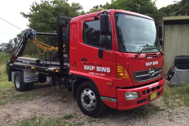 Skip Bin Delivery Truck