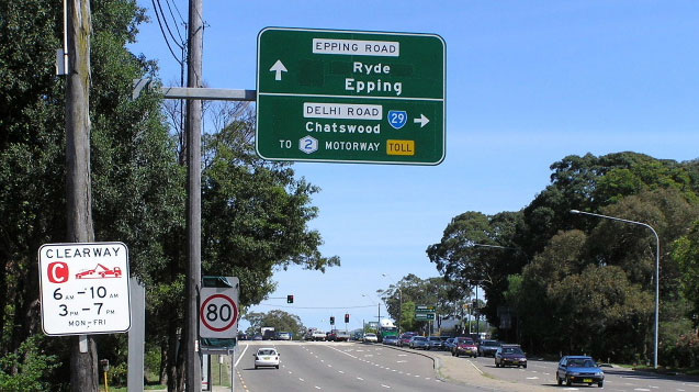 Epping Road NSW